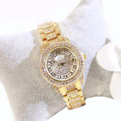New Fashion Gold Silver Women Rhinestone Quartz  Relogio Feminino The Women Wrist Fashion Watch