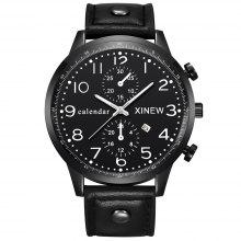 Business Men Analog Digital Watch Stainless Steel Case