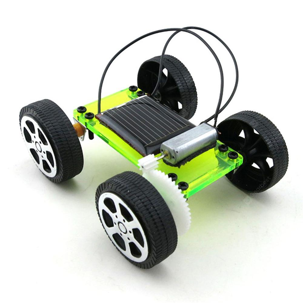 DIY Assemble Toy Set Solar Powered Car Kit Science Educational Kit for Kids Students - Transparent