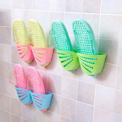 Bathroom Slippers Simple Bathroom Wall Behind The Small Hanging Shoe Rack Dormitory Shoe Rack