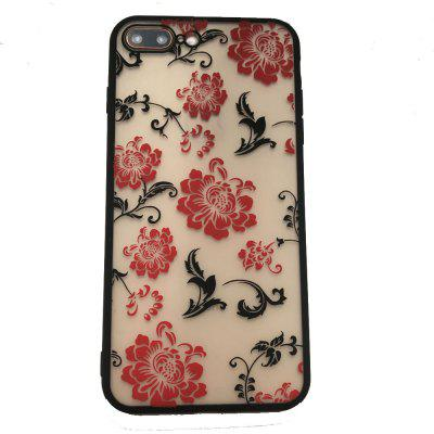 Case for iPhone 7 Plus / 8 Plus TPU + PC Flower Pattern Back Cover imd patterned tpu gel cover for iphone 7 plus 5 5 inch tribal dream catcher