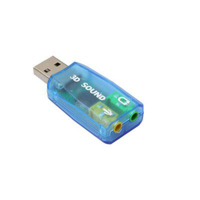 Virtual 5.1 Channel USB 2.0 Audio 3D Sound Card Adapter
