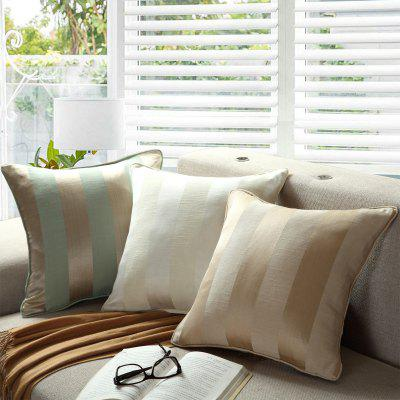 GyroHome Pack of 2 Cotton Jacquard Strips Cushion Covers  Pillow Three Colors 18 X 18 Inches