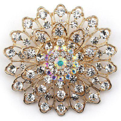 Women Girls Crystal Ornament Rhinestone Flower Pendant Brooch Fine Jewelry Gifts