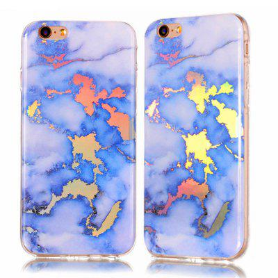 Fashion Color Plated Marble Phone Case For iPhone 6 / 6S Plus Case Luxurious Soft TPU Full 360 Protection Phone Bag fashion printing color pattern soft tpu back phone case for iphone 7 plus