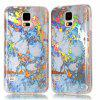 Fashion Color Plated Marble Phone Case For Samsung Galaxy S5 Case Cover Luxurious Soft TPU Full 360 Protection Case - GOLDEN