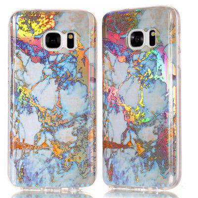 Fashion Plated Marble Phone Case voor Samsung Galaxy S7 Cover Luxe Luxe TPU Full 360 Beschermhoes