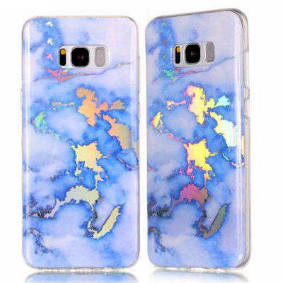 Fashion Color Plated Marble Phone Case For Samsung Galaxy S8 Case Cover Luxurious Soft TPU Full 360 Protection Case