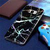 Fashion Color Plated Marble Phone Case For Samsung Galaxy S8 Plus Case Cover Luxurious Soft TPU Full 360 Protection Case - BLACK