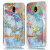 Fashion Color Plated Marble Phone Case For Samsung Galaxy J7 2017 J730 Case Cover European version Soft TPU Phone Bag - GOLDEN