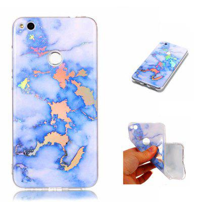 Fashion Color Plated Marble Phone Case For Huawei P8 Lite 2017 Case Cover Luxurious Soft TPU Full 360 Protection Case