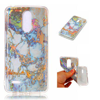 Fashion Color Plated Marble Phone Case For LG K8 EU Case Cover European version Soft TPU Full 360 Protection Case