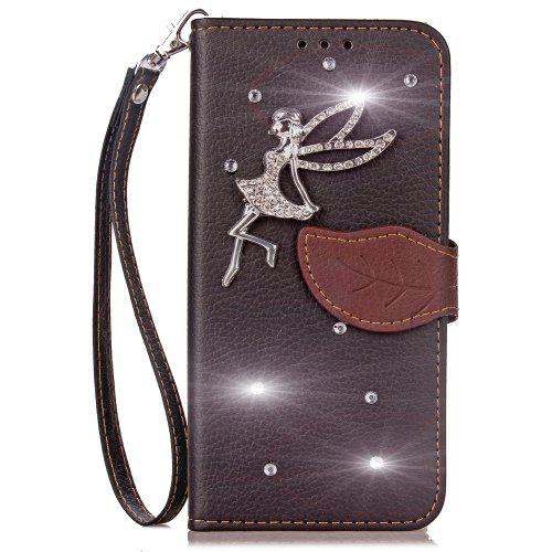 Luxury PU Leather Cover Wallet Phone Case For HOMTOM HT50 diamond Fairy Mobile Phone Shell Case