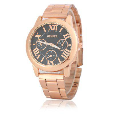 GENEVA Rose Gold Steel Band Watch Quartz Watch