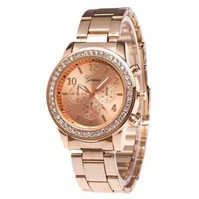 Geneva New Fashion Ladies Diamond Steel Business Watch