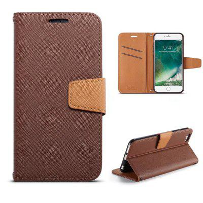 MUXMA Cover Case for iPhone 6 Plus / 6S Plus Retro Twill Leather