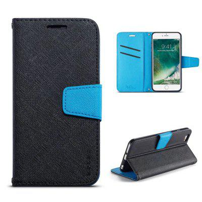 MUXMA Cover Case for iPhone 7 / 8 Retro Twill Leather