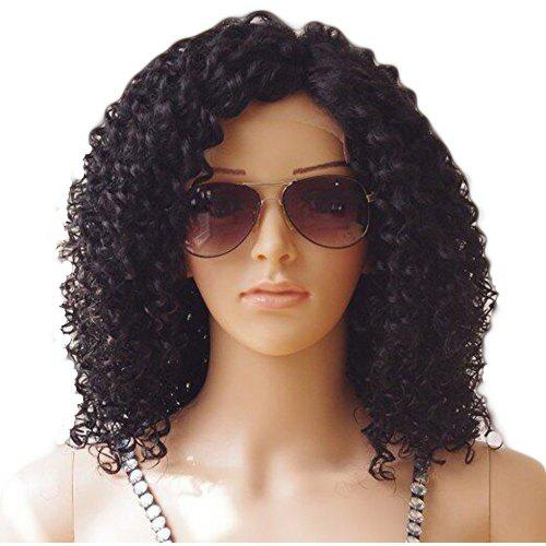 Brazilian Human Hair Front Lace Wig Curly