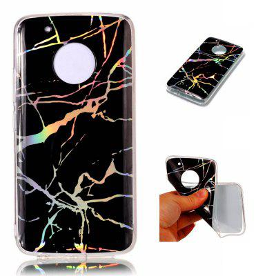 Fashion Color Plated Marble Phone Case For Motorola Moto G5 Plus Case Cover Soft TPU Full 360 Protection Case Phone Bag