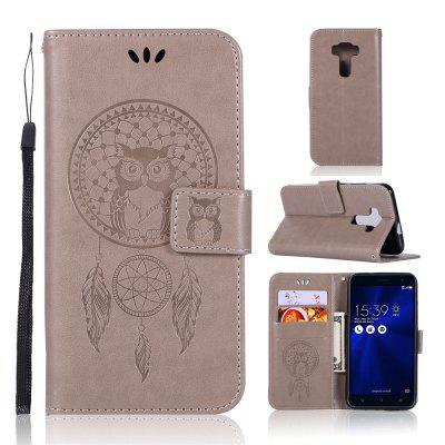 Owl Campanula Fashion Wallet Cover For Asus Zenfone 3 Laser ZC551KL Case PU Flip Vintage Leather Case Phone Bag With Stand