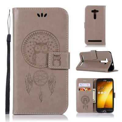 Owl Campanula Fashion Wallet Cover For Asus Zenfone 2 Laser ZE550KL / ZE551KL Phone Bag With Stand PU Flip Leather Case