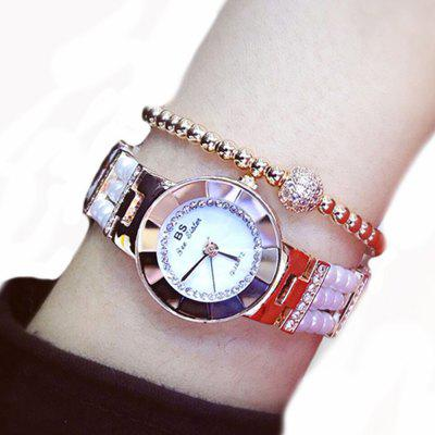 Sister Women Pearl Beading Quartz Wrist Ladies Rhinestone Dress Watch Montre Homme Marque De Luxe