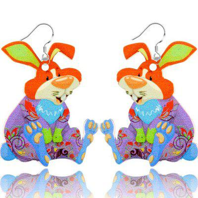 Fashion Jewelry Brand Cartoon Animal Happy Prairie Bunny Story Series Rabbit Drop Earrings For Women And Girls