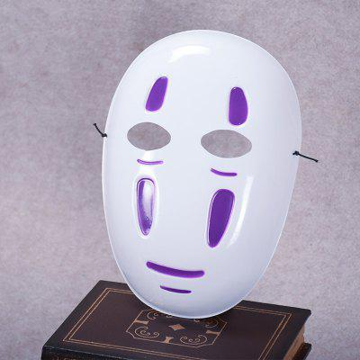 Spirited Away complet Masculin Masculin Anthropomorphe Masque Cosplay Dress Japonais Anime Noir Violet Vent Halloween Masque