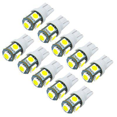JIAWEN 10PCS T10 LED Lampadine per auto 5050 SMD White Wedge Interior Side Cruscotto License Light Lampada DC 12V