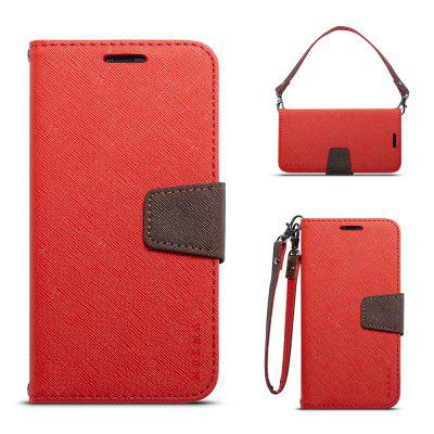 Cover Case For iPhone X Multifunktional Canvas Design Flip PU Leather Wallet Case