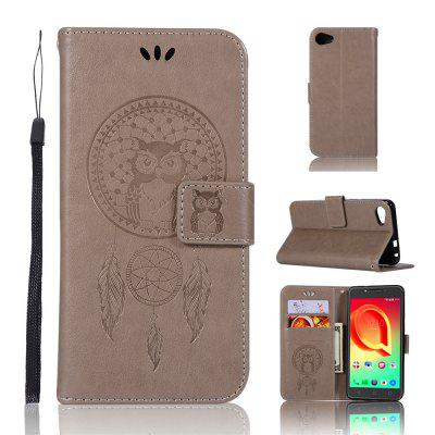 Owl Campanula Fashion Wallet Cover For Alcatel A5 LED 5085 / 5085D Case PU Flip Vintage Leather Case Phone Bag With Stand