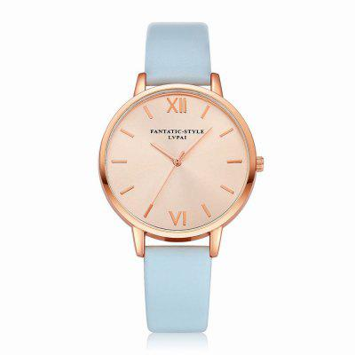Lvpai P095-R Women Rose Gold Tone Leather Band Wrist Watches