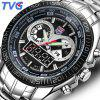 TVG Men Analog Digital Watch Luminous LED Quartz Clock - BLACK