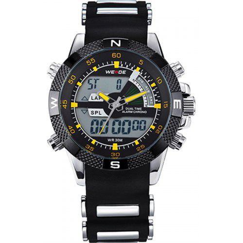 aa8b576233 WEIDE Watches Men Luxury Brand Famous Military LCD Luminous Analog Digital  Date Week Alarm Display Watch
