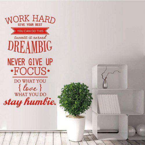 Work Hard Vinyl Quote Wall Stickers Motivational Decals For Kids
