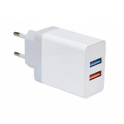 Minismile 5V 2.4A Fast Charge Dual USB Port Power Charger