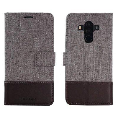 MUXMA Case Cover for Huawei Mate 10 Pro Pure Color Vintage Canvas Texture PU Leather