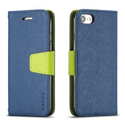 Cover Case For iPhone 8 Multifunktional Canvas Design Flip PU Leather Wallet Case