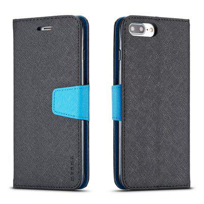 Cover Case For iPhone 8 Plus Multifunktional Canvas Design Flip PU Leather Wallet Case mercury goospery milano diary wallet leather mobile case for iphone 7 plus 5 5 grey