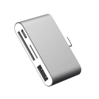 Adapter SD Card Reader Ybee Super Thin USB3.1 OTG Type-C Adapter for CF/ SD/ TF Micro SD Apple Mac Book/ Samsung portable usb 2 0 micro sd tf card reader for samsung i9500 n7100 g21 v8 white blue