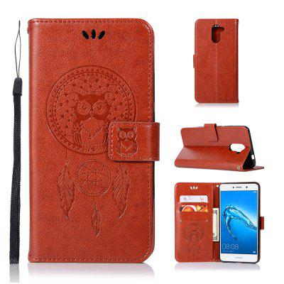 Owl Campanula Fashion Wallet Cover dla Huawei Y7 2017 Case PU Luxury Vintage Flip Leather Case Phone Bag With Stand