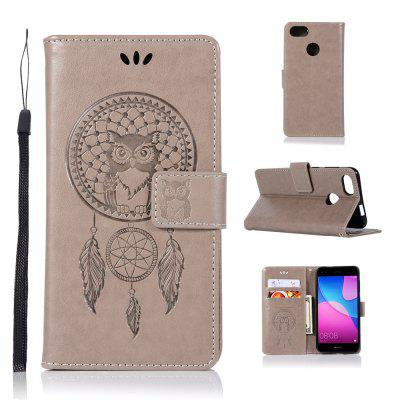 Owl Campanula Fashion Wallet Cover For Huawei P9 Lite Mini Case PU Luxury Vintage Flip Leather Case Phone Bag With Stand