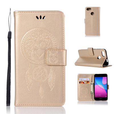 Owl Campanula Fashion Wallet Cover do Huawei P9 Lite Mini etui PU Luxury Vintage Flip Leather Case Phone Bag With Stand