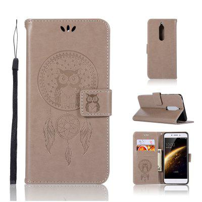 Owl Campanula Fashion Wallet Cover For Nokia 5 Case 5.2 Inch PU Luxury Vintage Flip Leather Case Phone Bag With Stand