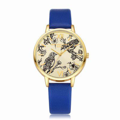 Lvpai P098 Women Leather Band Birds Dial Quartz Watches fashion leather watches for women analog watches elegant casual major wristwatch clock small dial mini hot sale wholesale
