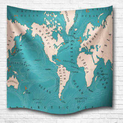 World Current Map 3D Digital Printing Home Wall Hanging Nature Art Fabric Tapestry for Bedroom Living Room Decorations custom papel de parede infantil retro world map for the sitting room bedroom children room background wall waterproof wallpaper