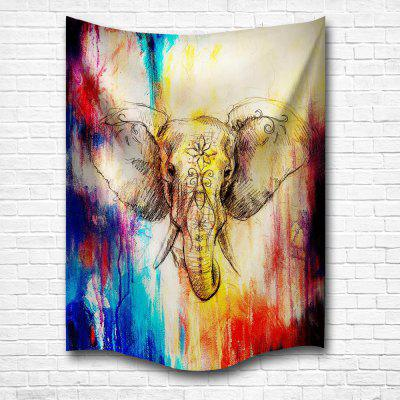 Watercolor Elephants 3D Digital Printing Home Wall Hanging Nature Art Fabric Tapestry for Bedroom Living Room Decoration awox striimlight led light bulb with integrated bluetooth speaker