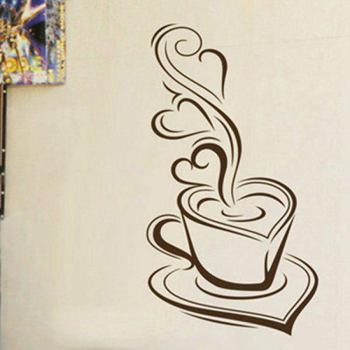 kitchen wall sticker coffee delicious coffee mugs vinyl wall decals