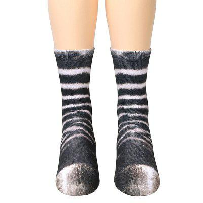 Animal Paw Print Crew Socks