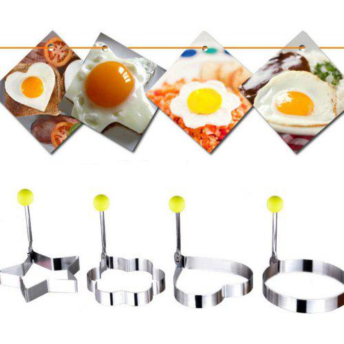 Home & Garden Stainless Steel Egg Mold Multifunctional Heart-shaped Breakfast Cute Egg Pancake Ring Cake Baking Frying Apparatus Kitchen Tools High Quality Materials
